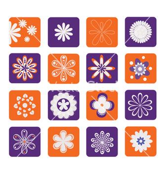 Free retro floral vector - vector gratuit #262805