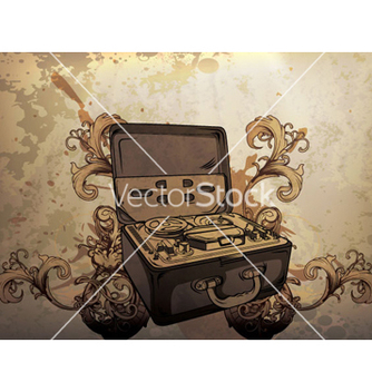 Free vintage music poster vector - Kostenloses vector #262985