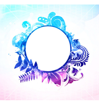 Free colorful floral frame vector - Kostenloses vector #263115