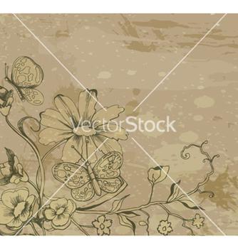 Free retro grunge floral background vector - vector #263145 gratis