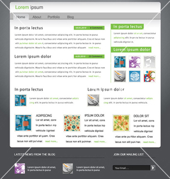 Free modern website template vector - Free vector #263155