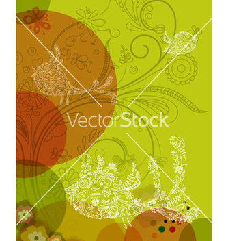 Free colorful background with abstract birds vector - Free vector #263555