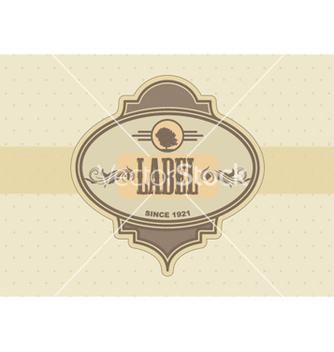 Free vintage label vector - Free vector #263635