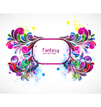 Free colorful floral frame vector - Free vector #264175