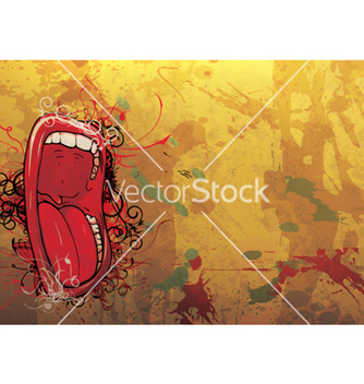 Free screaming mouth vector - Free vector #264215