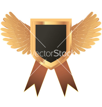 Free gold medal with wings vector - vector gratuit #264845