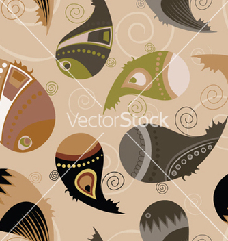 Free paisley seamless pattern vector - Kostenloses vector #264865
