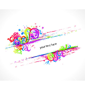 Free colorful swirls frame vector - vector gratuit #265235