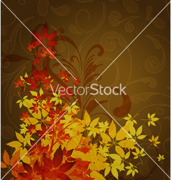 Free autumn floral background vector - Free vector #265295