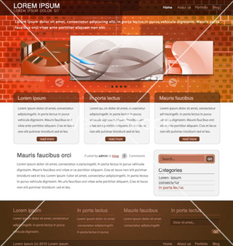 Free website template vector - Free vector #265795