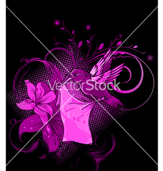 Free abstract bird with floral background vector - Kostenloses vector #265855