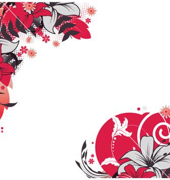 Free retro floral vector - Free vector #265925