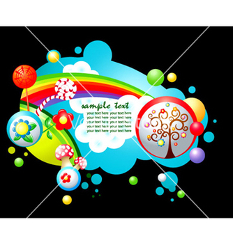 Free colorful abstract vector - Free vector #265995