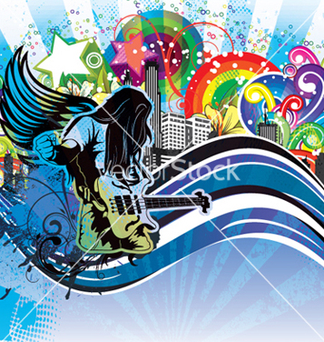 Free grunge concert poster vector - бесплатный vector #266305