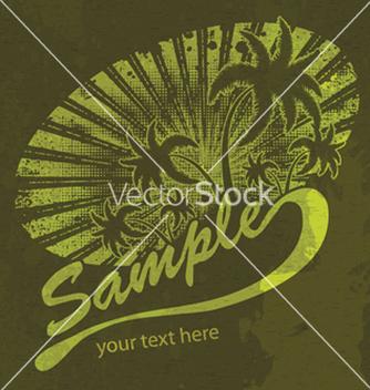 Free grunge summer vector - Kostenloses vector #266425