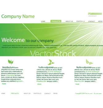 Free editable website template vector - Kostenloses vector #266545