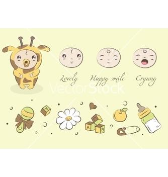 Free baby giraffe vector - Free vector #266885