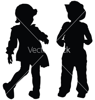 Free kids silhouettes vector - бесплатный vector #266955