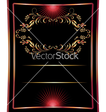 Free golden ornament vector - Free vector #267165