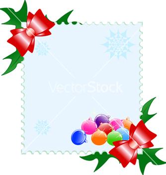 Free christmas postcard vector - vector gratuit #267285