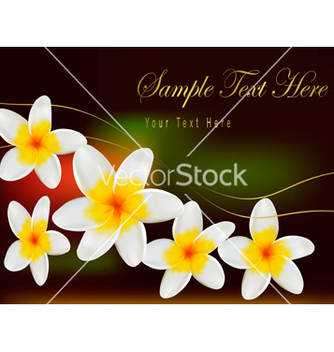 Free card with beautiful flowers on green background vector - бесплатный vector #267385