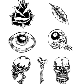 Free classic tattoos vector - Free vector #267435