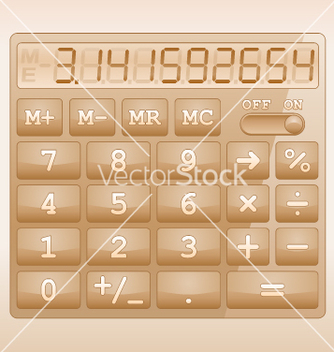 Free calculator vector - бесплатный vector #267465