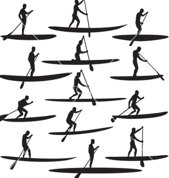 Free sup stand up paddle boarding vector - Free vector #267505