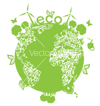 Free green planet vector - Free vector #267585
