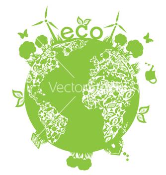 Free green planet vector - Kostenloses vector #267585