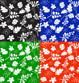 Free floral pattern vector - Kostenloses vector #267615