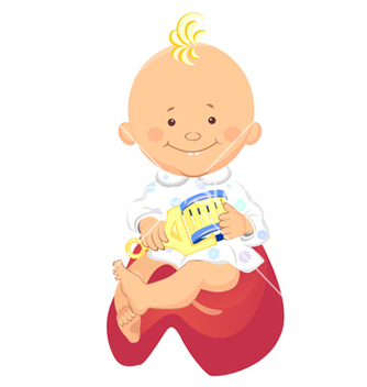 Free baby cartoon vector - Free vector #267685