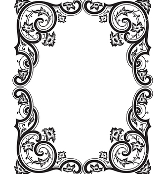 Free antique frame engraving vector - Free vector #268055