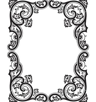 Free antique frame engraving vector - бесплатный vector #268055