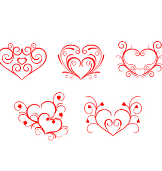 Free valentine hearts vector - Free vector #268095