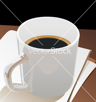 Free cup black coffee vector - бесплатный vector #268375