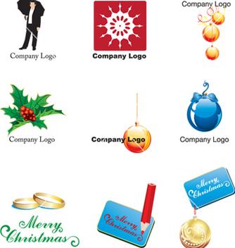 Free xmas logos vector - Kostenloses vector #268465