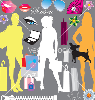 Free shopping elements vector - Free vector #268585