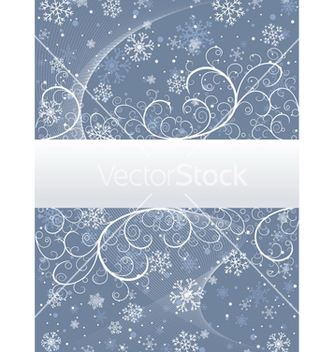 Free winter background with snowflakes vector - vector #268745 gratis