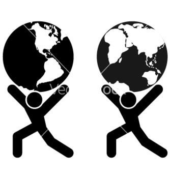 Free globe holding man vector - Free vector #268785