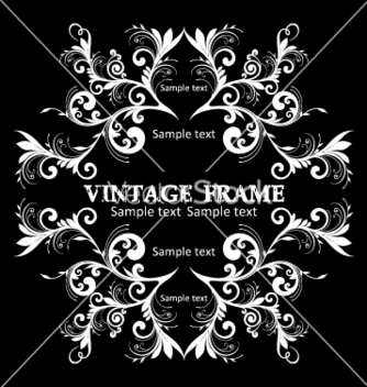 Free vintage frame vector - Free vector #268865