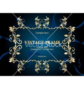 Free vintage frame vector - Free vector #268895