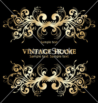 Free vintage frame vector - Free vector #268945