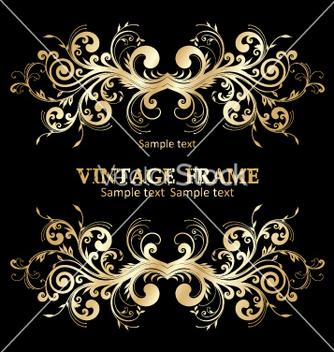 Free vintage frame vector - vector gratuit #268945