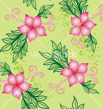 Free floral seamless background vector - Free vector #269105