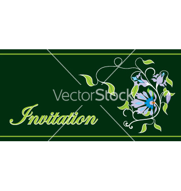 Free invitation floral frame vector - бесплатный vector #269175