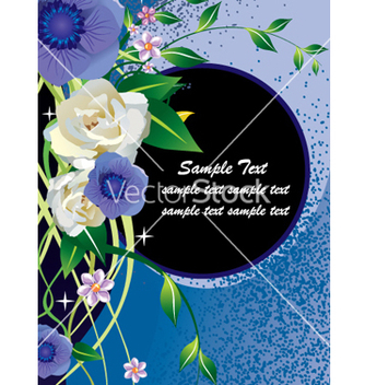 Free floral document vector - бесплатный vector #269535