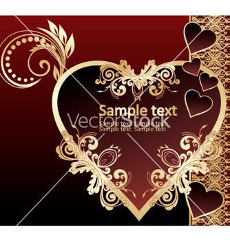 Free golden invitation vector - Kostenloses vector #269615