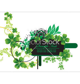 Free floral label vector - Free vector #269695
