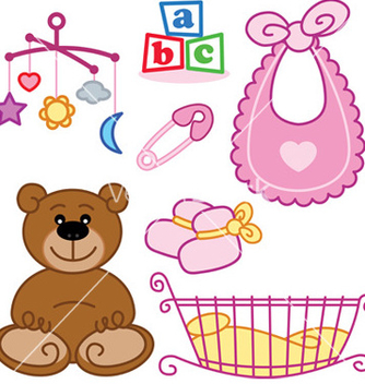 Free baby cards vector - Free vector #269855